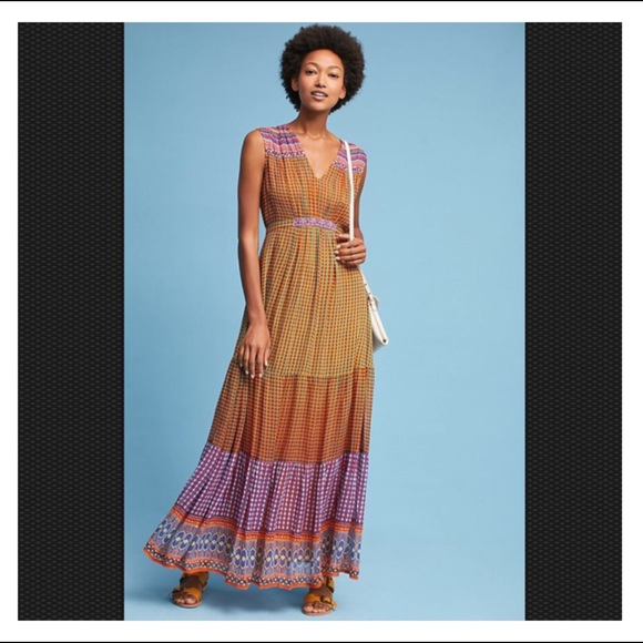f032ea2791bc Anthropologie Dresses   Tanvi Kedia Embroidered Maxi Dress   Poshmark